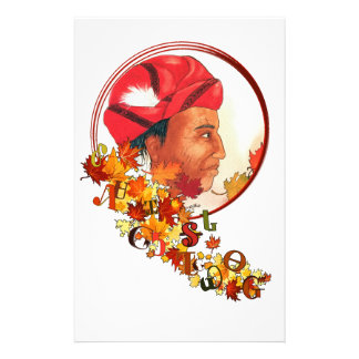 """Sequoyah & the Cherokee Syllabary """"Talking Leaves"""" Stationery"""