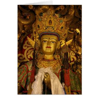 Sera Monastery Statue Greeting Card