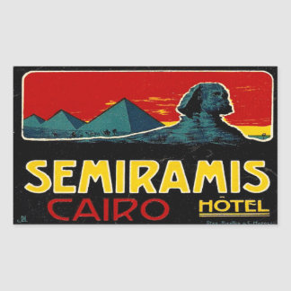 Seramis Hotel (Cairo Egypt) Rectangular Sticker