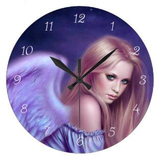 Seraphina Guardian Angel Art Wall Clock