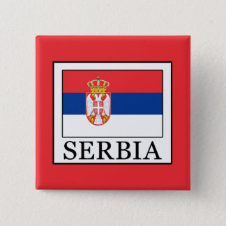 Serbia 15 Cm Square Badge