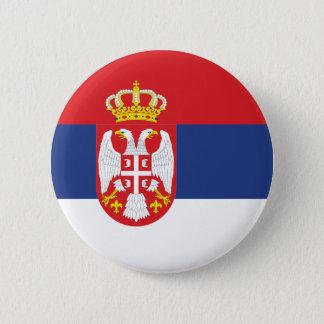 serbia 6 cm round badge