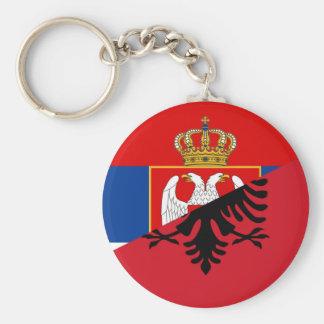 serbia albania flag country half symbol key ring