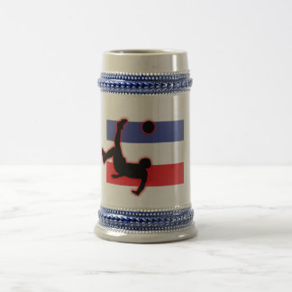 Serbia and Montenegro Bicycle Kick Beer Stein