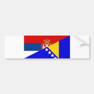 serbia bosnia Herzegovina flag country half symbol Bumper Sticker