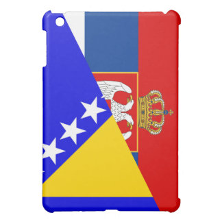 serbia bosnia Herzegovina flag country half symbol iPad Mini Case