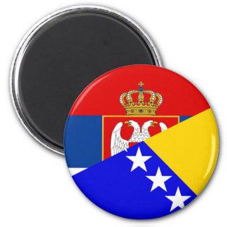 serbia bosnia Herzegovina flag country half symbol Magnet