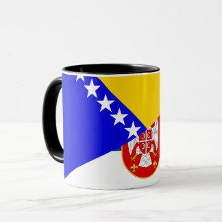 serbia bosnia Herzegovina flag country half symbol Mug