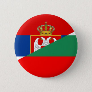 serbia bulgaria flag country half symbol 6 cm round badge