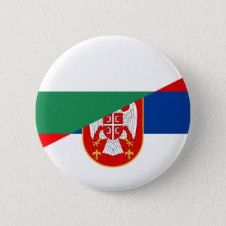 serbia bulgaria flag country half symbol 6 cm round badge