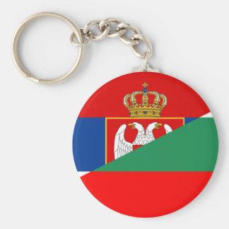 serbia bulgaria flag country half symbol key ring