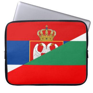 serbia bulgaria flag country half symbol laptop sleeve