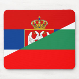 serbia bulgaria flag country half symbol mouse pad