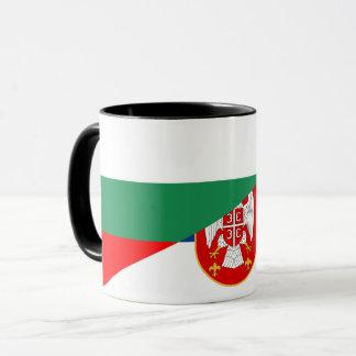 serbia bulgaria flag country half symbol mug