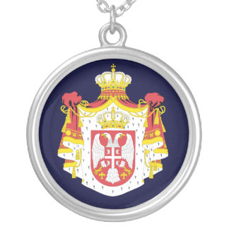 Serbia Coat of Arms Silver Plated Necklace