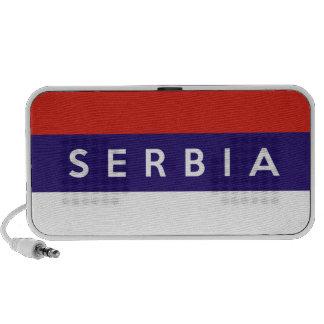 Serbia country flag symbol name text mini speaker