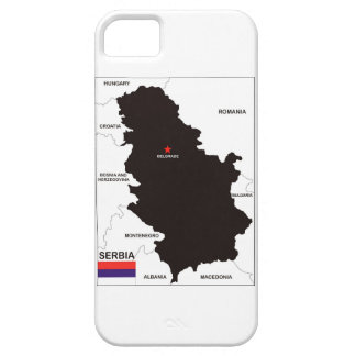 serbia country political map flag iPhone 5 case