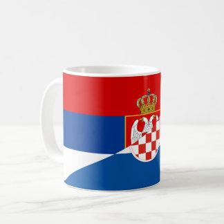 serbia croatia flag country half symbol coffee mug
