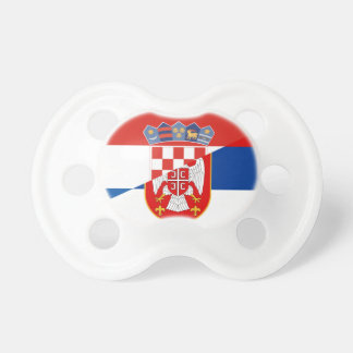 serbia croatia flag country half symbol dummy