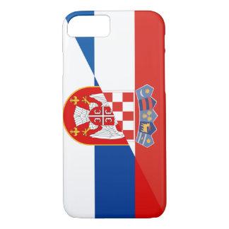 serbia croatia flag country half symbol iPhone 8/7 case