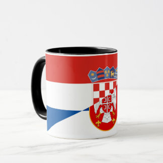 serbia croatia flag country half symbol mug