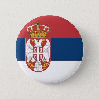 Serbia Flag 6 Cm Round Badge