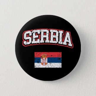 Serbia Flag 6 Cm Round Badge