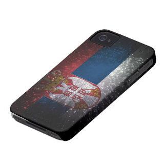 Serbia Flag Firework iPhone 4 Case-Mate Case