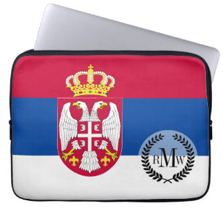 Serbia Flag Laptop Computer Sleeve