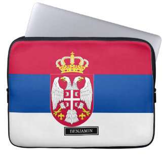 Serbia Flag Laptop Computer Sleeves
