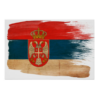 Serbia Flag Posters