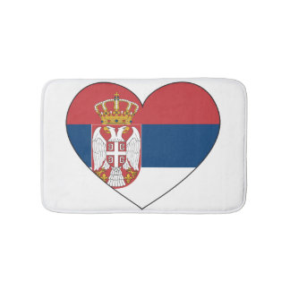 Serbia Flag Simple Bath Mats