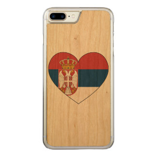 Serbia Flag Simple Carved iPhone 7 Plus Case