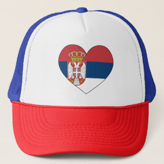 Serbia Flag Simple Trucker Hat