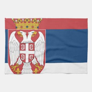 Serbia Flag Tea Towel