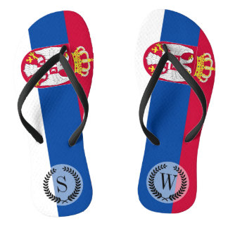 Serbia Flag Thongs