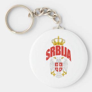 Serbia Latin Key Ring