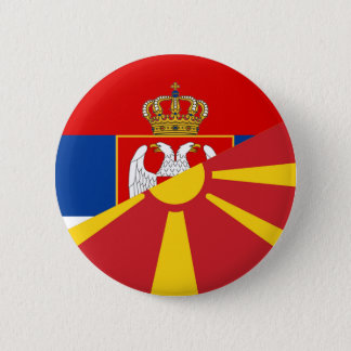 serbia macedonia flag country half symbol 6 cm round badge