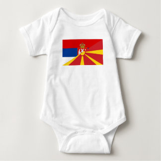 serbia macedonia flag country half symbol baby bodysuit