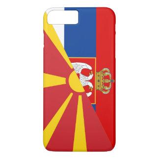 serbia macedonia flag country half symbol iPhone 8 plus/7 plus case
