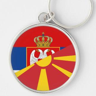 serbia macedonia flag country half symbol key ring