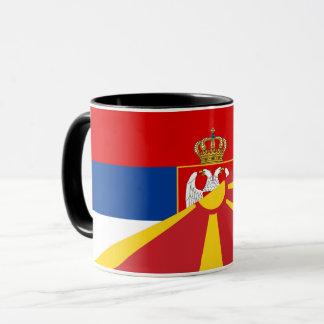 serbia macedonia flag country half symbol mug