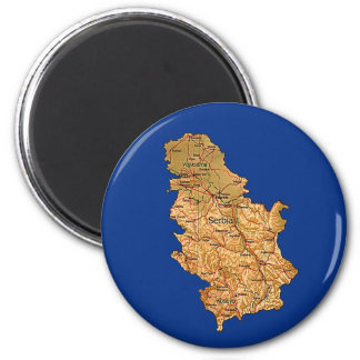 Serbia Map Magnet