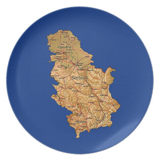Serbia Map Plate