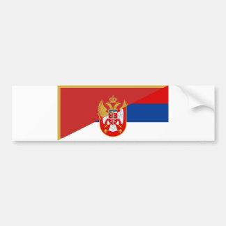serbia montenegro flag country half symbol bumper sticker
