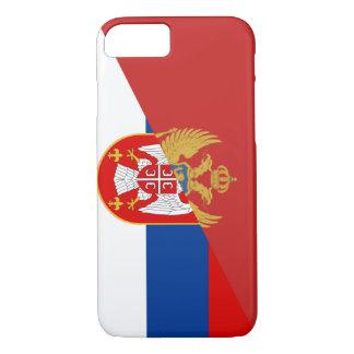 serbia montenegro flag country half symbol iPhone 8/7 case