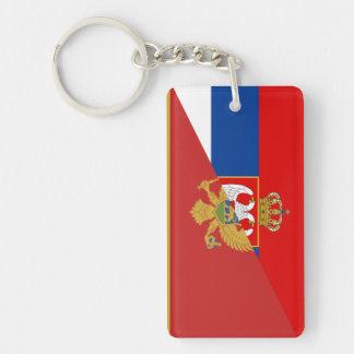 serbia montenegro flag country half symbol key ring