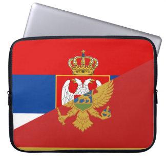 serbia montenegro flag country half symbol laptop sleeve