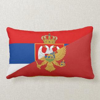 serbia montenegro flag country half symbol lumbar cushion