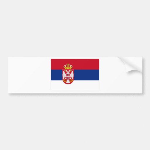 Serbia National Flag Bumper Stickers